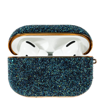 Чехол Kingxbar Crystal Fabric для Airpods Pro Синий