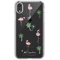 Чехол Kingxbar Tropical для iPhone XR Flamingo