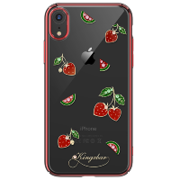 Чехол Kingxbar Tropical для iPhone XR Strawberry